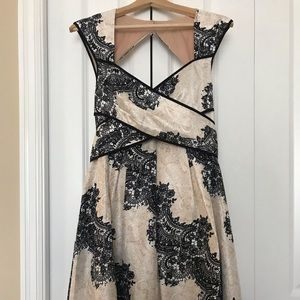 Jessica Simpson Lace Print Fit & Flare Dress